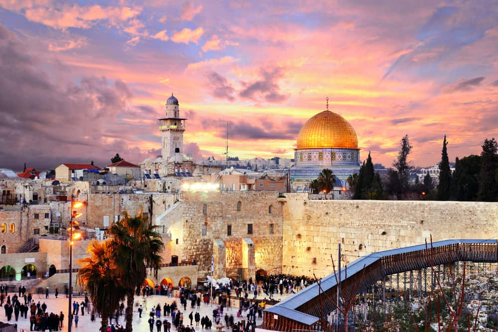 A trip to Israel will likely include a visit to the walled city of old Jerusalem. #israel #jerusalem #middleeast #asia #whereelsetogo